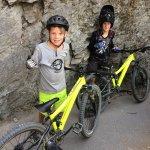 Kids with there fantastic hire bikes from Vertigo Bikes.