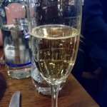 Birthday glass of Champagne
