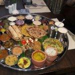 Dara Singh Thali,,, The elaborate spread