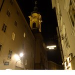 Linzergasse and church tower