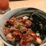 Don rice bowl with teriyaki chicken