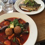 Seabass and Fish Soup