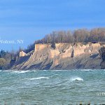 This is the view of Chimney Bluffs from Sodus Bay lighthouse.