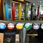 Just some of the beers available on draft