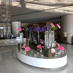 Beautiful reception, fresh flowers daily