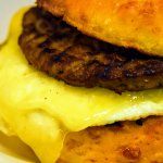 Sausage and egg biscuit
