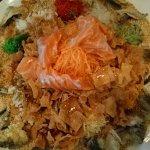 Lo Hei with fresh Salmon Sashimi