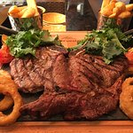 Our 32oz Bulls head Ribeye steak