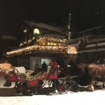 Winterlicher und romantischer Eingang