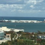 Distant view of the Navy Pier from the room
