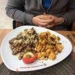 Steak with baked potatos