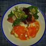 Breakfast egg dish.