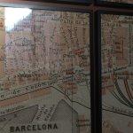 Barcelona map decor
