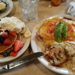California Benedict comes with side of pancakes