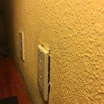 poor maintenance in rooms.