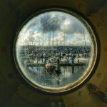 Marina through a porthole