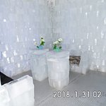 ice chairs and tables
