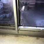 Broken window corner.