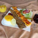 Combination of lamb Barg & Jojeh kebab