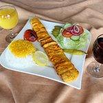 Chicken Barg(Tender chicken fillet beaten flat & marinated with saffron)