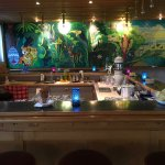 The bar with it's very interesting murals.