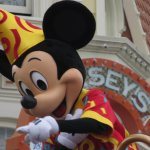 Mickey Mouse on Parade seen from Restaurant outside seating