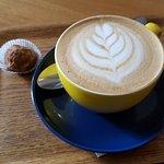 Truffle and cappuccino