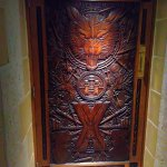 Game of Thrones Door - entrance to the Green Restaurant