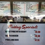 Menu and Special of the Day