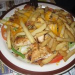 Grilled chicken salad with FF