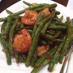 String beans with shrimp. Excellent.