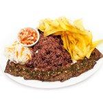 """Nuestra especialidad """"Carne Asada Premium"""" exquisito filete preparado especialmente para tu pala"""