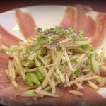 Carpaccio salad with green appale. Special of the day