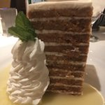 10 layer carrot cake with pineapple sauce