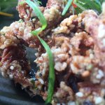 Softshell crab, delicious and crunchy - maybe a little too heavily fried