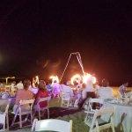 Dinner show on the beach