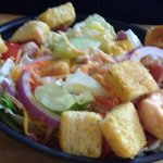 Tossed salad was good.