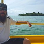 Boat ride to Booby Cay