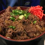 Beef Donburi with extra meat