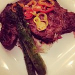 Ribeye with Smashed Potatoes & Grilled Asparagus