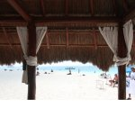 On the beach from our cabana.