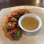 Second dish - shrimp cakes