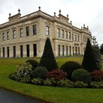 View of the front of Brodsworth Hall in winter