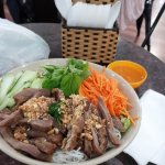 Great pork salad with vermicelli - always great food here