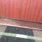 threshold - hallway side