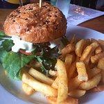 Zucchini and Felafel Burger