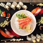 Super tabla de sushi del menú de 25 euros