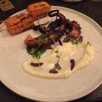 My dish - octopus with yoghurt and potato gratin