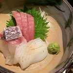 Raw fish with shiso and wasabi from Lunch set (Chef's recommendation)
