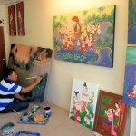 Original paintings in many styles in Baan Tawai Village